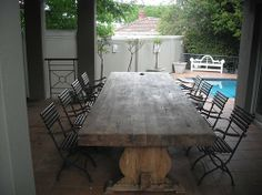 Solid Ash Table with Thick Top Cape Town South Africa, Solid Wood Table, Wooden Furniture, Ash, Tables, Timber Furniture, Gray, Mesas