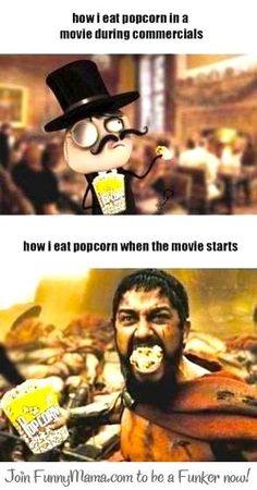 meme comic eating popcorn