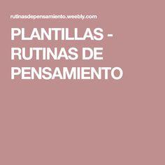 PLANTILLAS - RUTINAS DE PENSAMIENTO India, Thoughts, Visible Thinking, Coops, Blue Prints, Stencils, Goa India, Indie
