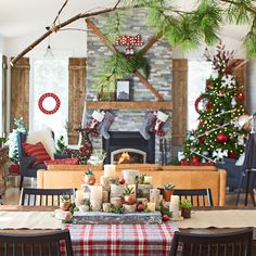 fewer walls more christmas deck out an open plan space - Is Lowes Open On Christmas