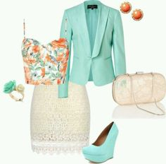 Without the blazer it could be a nice club outfit!