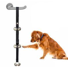 3 Warna Nylon Adjustable Tali 6/7 Lonceng Bel Bel Pintu Doggy Anjing Pelatihan Pelatihan Pet Dog Aksesoris Pet Pasokan Mainan //Price: $US $5.07 & FREE Shipping //     #anjing