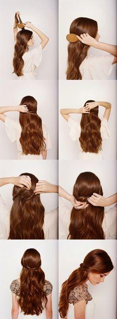 Half Up Half Down Hairstyle Tutorial For Weddings - Toronto, Calgary, Edmonton, Montreal, Vancouver, Ottawa, Winnipeg, ON