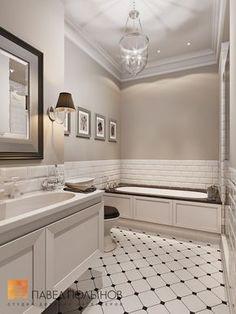 Ванная комната в стиле американской неоклассики