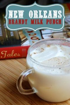 New Orleans Brandy Milk Punch The perfect breakfast cocktail! New Orleans Brandy Milk Punch Cocktail Recipe from AlwaysOrderDesser… Milk Punch Recipe, Punch Recipes, Alcohol Recipes, Drink Recipes, Easy Recipes, Bourbon Recipes, Bourbon Drinks, Frames, Sweets