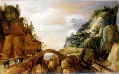 ヨース・デ・モンペル(Joos de Momper)「Mountainous Landscape」