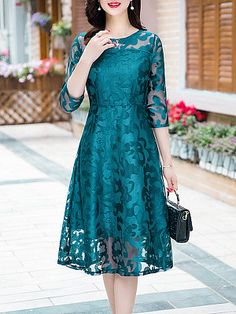 Round Neck Lace Maxi Dress Fashion girls, party dresses long dress for short Women, casual summer outfit ideas, party dresses Fashion Trends, Latest Fashion # Lace Maxi, Lace Dress, Dress Shoes, Dress Brokat, Dress Silhouette, Modest Dresses, Maxi Dresses, Cheap Dresses, Dress Brands