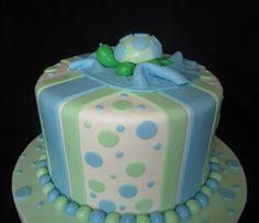 Turtle Baby Shower Cake
