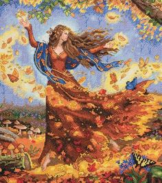 Dimensions Gold Collection Counted Cross Stitch Kit Fall Fairy, , hi-res