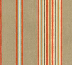 Home Decor Print Fabric- Waverly Liberty Stripe Clay
