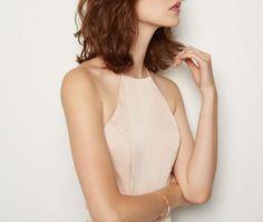 Light Nude Ada Dress Dress   Fame & Partners USA
