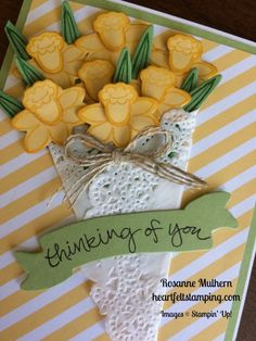 Stampin Up Basket Bunch Thinking of You Card Ideas - Rosanne Mulhern stampinup