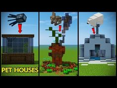 34 Minecraft Pet (Animal) House Designs! - YouTube