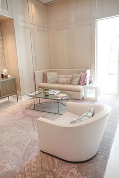 Soft pink decor inspiration from Four Seasons Orlando spa. I've  sourced ways to recreate this neutral pink living room!