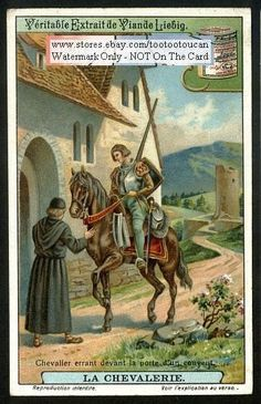 The Middle Ages Knights Code Of Chivalry c1915 Card