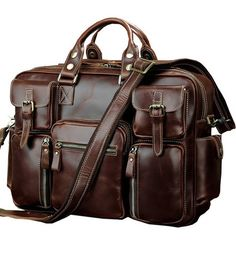 Vintage Leather Briefcase Handmade Genuine Dispatch Travel Bag Leather  Briefcase 9fcd94f0532e2