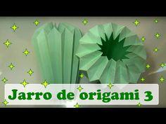 COMO FAZER JARRO PLISSADO DE ORIGAMI 4º VERSÃO - YouTube