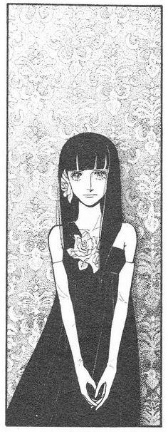 2年前の松苗センセのトーク・ショーでアシスタント時代のコマをスライドで紹介していた。一条センセの「5愛のルール」で内田善美さんが描いた、美しい点描画の背景。