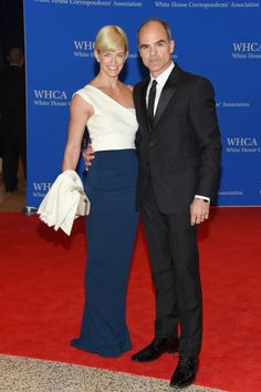 Karyn and Michael Kelly. See what all the celebrities, including Chrissy Teigen and Martha Stewart, wore at the White House Press Correspondents' Dinner.