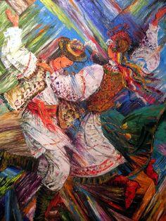 Ukrainian dance , painting by Yurij Hura, from Iryna with love