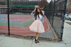 Medium Pink 8 Layer Tutu Skirt Tulle Skirt Ballerina by 50Limes