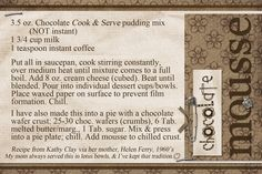Chocolate Mousse:)  Recipe card made digitally with Photoshop Elements.