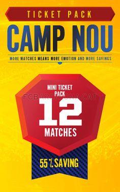 Pack 12 Tickets #FCBarcelona #Tickets #CampNou #Game #Match