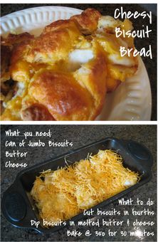 Cheesy Biscuit Bread....looks amazing and EASY!!!