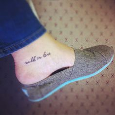Eph. 5:2. - Except on the top of my foot. With little foot prints?