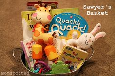 Great Easter Basket Ideas! This is a great idea for a toddler or baby! We love adding our favorite Easter board books too!
