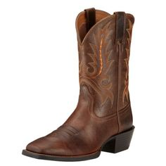 Ariat Men's Cowboy Boots Sports Outfitter Wicker Brown Full Grain Leather Ariat Mens Boots, Boot City, Western Boots For Men, Cowboy Boots, Men's Boots, Wicker, Westerns, Brown, Sports