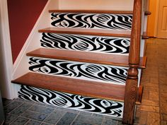 Stair Riser Vinyl Decals | ... Collection > Artistic > Animals & Insects > Zebra Border | Wall Decals