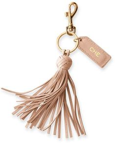 An easy yet thoughtful gift, this lovely leather keychain combines a fringed tassel, gold hardware and a functional key ring with a leather tag that was made for monogramming. Leather Tassel Keychain, Diy Leather Tassel, Handmade Leather, Vintage Leather, Leather Money Clip Wallet, Leather Craft, Valentine Gifts, Jewelry Gifts, Jewellery