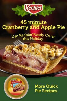 Keebler® Ready Crust® is the perfect addition to all of your holiday recipes. It makes baking super-easy and quick for an irresistibly tasty finish. Tap the Pin for more. Easy Pie Recipes, Apple Pie Recipes, Waffle Recipes, Cheesecake Recipes, Casserole Recipes, Soup Recipes, Dessert Recipes, Cooking Recipes, Potato Casserole