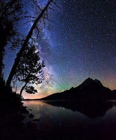 Milky Way, Grand Teton Mountains, at Grand Teton National Park, Wyoming Grand Teton National Park, National Parks, Teton Mountains, All Nature, Jolie Photo, To Infinity And Beyond, Milky Way, Stargazing, Far Away