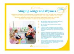 pThis EYFS Expressive Arts  Designactivity encourages you to sing repetitive songs and rhymes with your child, which are ideal for helping develop intellectual skills./p