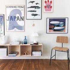 """Trævarefabrikernes UDSALG on Instagram: """"SE, hvordan Fie og hendes familie har glæde af smukke KUBIK reoler fra Trævarefabrikernes Udsalg i deres skønne, kreative hjem. Tak for lån…"""" Learn Art, Decoration, Home Office, Ikea, Gallery Wall, Living Room, Bedroom, Inspiration, Rammer"""