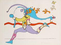 Peter Max, Universal Runner, 1970