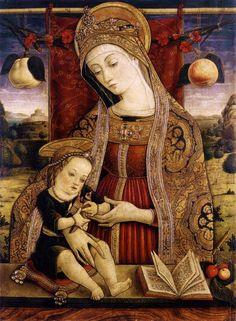 Carlo Crivelli (c.1430-1495) Madonna and Child, 1482
