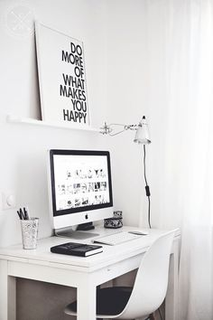 Is a home office complete without a motivational poster? #home #office #design