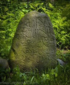 Old mizar (Tatar cementary) in Studzianka, gravestone from 1794.  Studzianka, Lublin voivodeship, Poland by miwari.deviantart.com on @DeviantArt