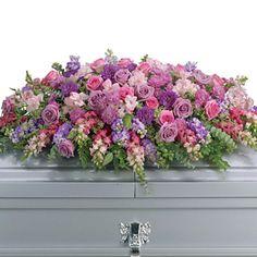 Lavender Tribute Casket Spray | Soddy Daisy TN florist - Lometa's Flowers