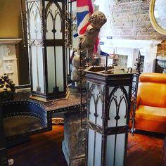 A #pair of #gothic #lanterns #cherubs #table #metal #instadaily #interior #instastyle #decor #french #gilt #mirror