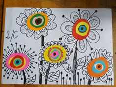 elena Lucchetta's media content and analytics Spring Art Projects, Spring Crafts, 3rd Grade Art, Kindergarten Art, Flower Doodles, Art Classroom, Art Club, Art Plastique, Art Activities