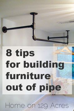 8 tips for building furniture out of pipe – Home on 129 Acres Plywood Furniture, Plumbing Pipe Furniture, Building Furniture, Design Furniture, Table Furniture, Furniture Projects, Furniture Plans, Wood Projects, Industrial Interior Design