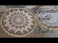 crochet crochet paso a paso Free idea Owl Crochet Patterns, Owl Patterns, Crochet Home, Easy Crochet, Dreamcatcher Crochet, Crochet Doilies, Crochet Flowers, Mandala Crochet, Dream Catcher Mandala