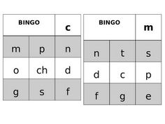 Initial Sounds Bingo in Spanish Sonidos Iniciales