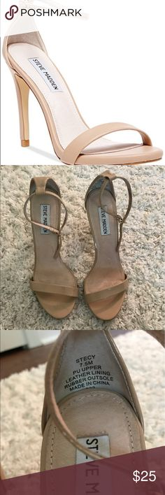 Steve Madden Stecy Patent Leather Heels Strappy sandal heels perfect for the spring and summer! Worn once. Steve Madden Shoes Heels