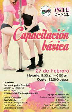 En Febrero estaremos en Evan's en Guadalajara, Jalisco. Registro e inscripciones en promociones@femexpole.org.mx
