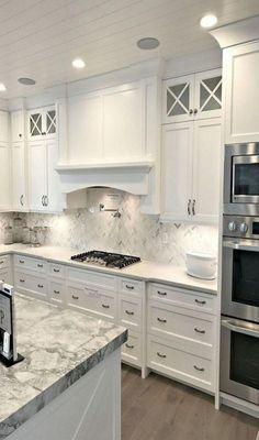 Stunning white kitchen cabinet decor for 2020 design ideas 4 White Kitchens Cabinet Decor Design Ideas Kitchen Stunning white Kitchen Cabinets Decor, Kitchen Cabinet Design, Kitchen Redo, Home Decor Kitchen, Rustic Kitchen, Country Kitchen, Home Kitchens, Cabinet Decor, Kitchen Ideas